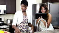 Female friends in the kitchen video