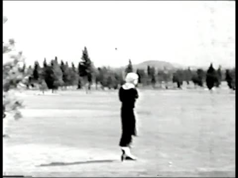Female golfer, circa 1935 video