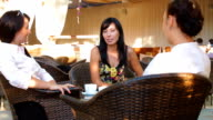 Female Gossip Time at Urban Cafe video