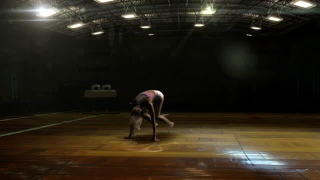 Female gymnast video