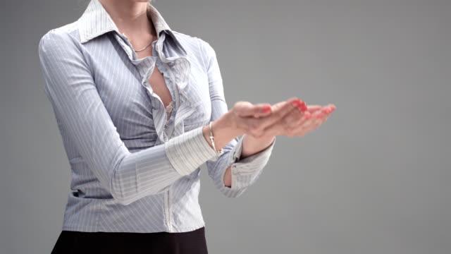 Female Hand Communication video