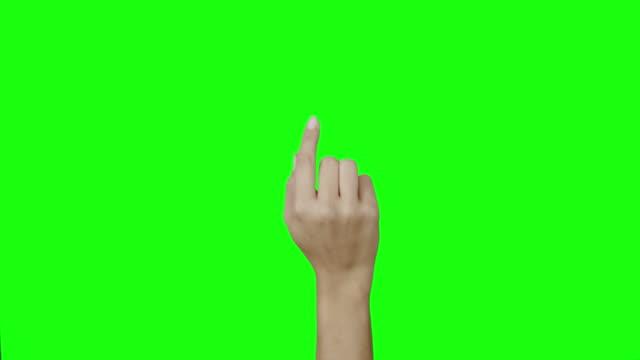 female hand gesture video