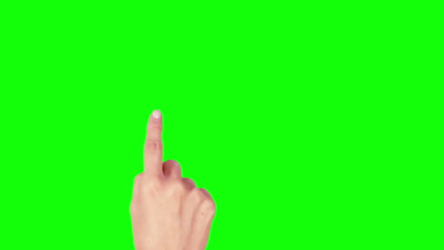 Female hand. Tablet. Touchscreen gestures. Green screen. Technology. video