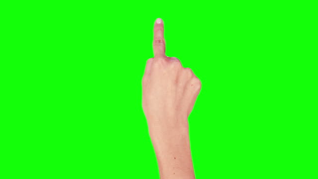 Female hand. Tablet. Touchscreen gestures. Green screen. video