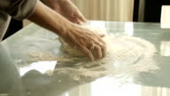 female hands making yeast dough video