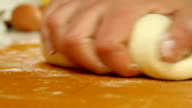 Female hands preparing pastry video
