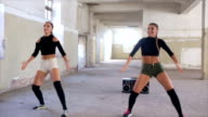 Female hip hop dancers video