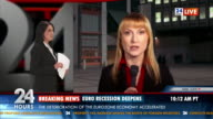 HD: Female Journalist Reporting Live In TV News video