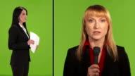 HD: Female Journalist Reporting Live video