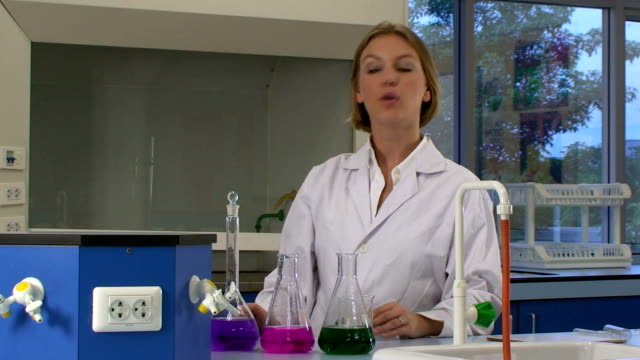 Female lab assistant video