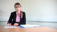 Female Lawyer in client meeting video
