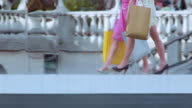 TS Female legs in high heels on a shopping spree video