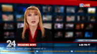 HD: Female Newsreader Reading News video