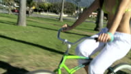 Female on Beach Cruiser video