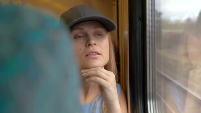 Female Photographer Traveling by Train video