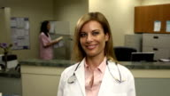 Female Physician in Office video