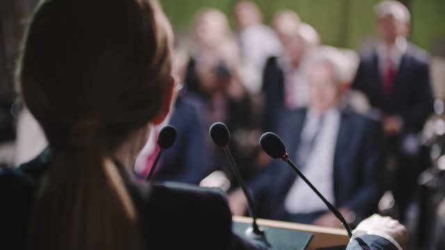 Female Politician Making Statement video