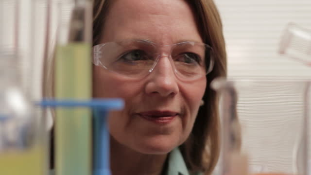 Female scientist in the lab video