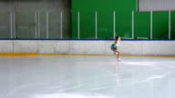 HD: Female Skater Performing Jump video