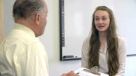 Female Student Talking To High School Counselor video
