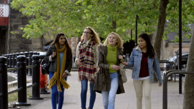 Female Students Walking About video