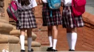 Female Students With Backpacks video