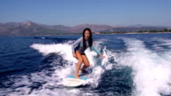 Female Surfer in action video