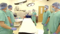 Female Surgeon Approaches Operating Table video
