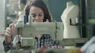 Female tailor video