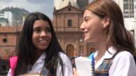 Female Teen School Girls Talking video