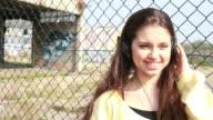 Female Teenager dancing with headphones video