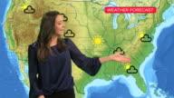 Female tv weather presenter video