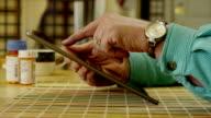 Female using Tablet video