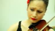 Female violinist video