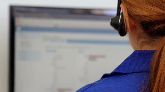 Female with Headset video