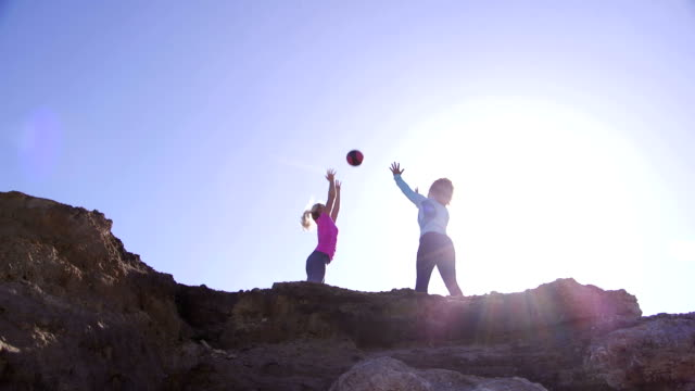 Females Training Together on a Rock video