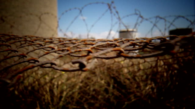 fence and barbwire video
