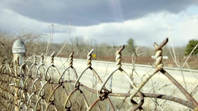 Fence next to highway video