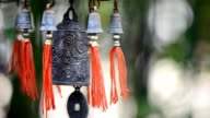 Feng Shui Chinese Bell and Coin being blown video