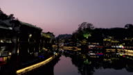 Fenghuang Ancient Town at Night video