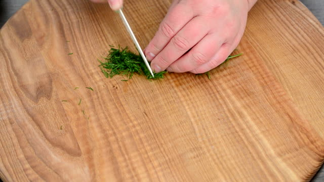 Fennel on a board. video