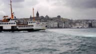 Ferries over the Bosphorus in Istanbul video