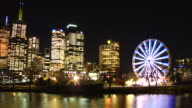 Ferris Wheel and City Scape HD Melbourne Timelapse Loopable video