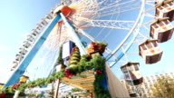 Ferris wheel at christmas time video