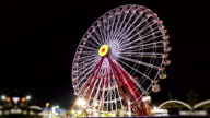 Ferris Wheel at Night (Timalapse-Loopable) video