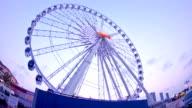 ferris wheel at sunset video