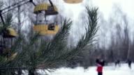 Ferris wheel at winter Pripyat video
