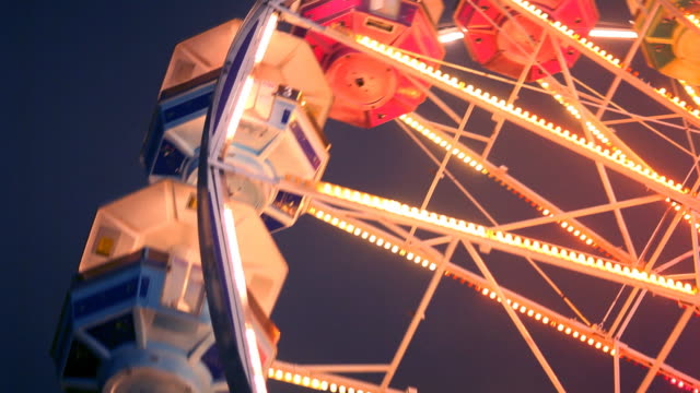 Ferris Wheel Carnival Ride at Night video