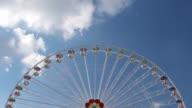 Ferris wheel in an amusement park video