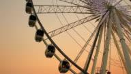 Ferris wheel in evening video